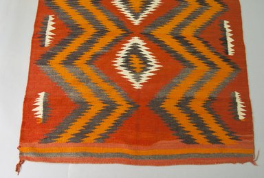 Navajo. <em>Weaving</em>, mid 19th or early 20th century. Wool, dye, 66 x 53 in. (167.6 x 134.6 cm). Brooklyn Museum, Gift of Samuel and Beatrice Klein, 2000.11.1. Creative Commons-BY (Photo: Brooklyn Museum, 2000.11.1_view1_PS5.jpg)