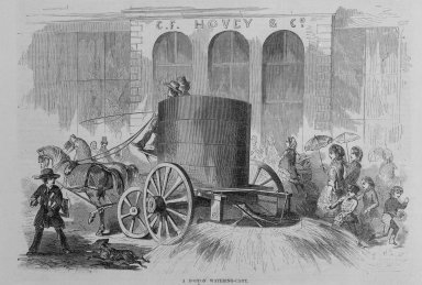 Winslow Homer (American, 1836-1910). <em>A Boston Watering Cart</em>, 1857. Wood engraving, image:  9 1/2 x 6  in.  (24.1 x 12.7 cm);. Brooklyn Museum, Gift of Harvey Isbitts, 2000.112.1 (Photo: Brooklyn Museum, 2000.112.1_bw.jpg)