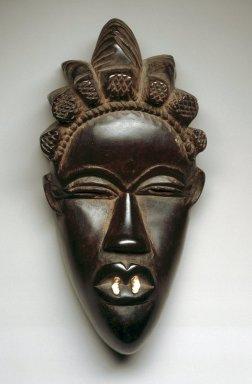 Bassa. <em>Mask</em>, early 20th century. Wood, shell, 8 x 4 x 3 in.  (20.3 x 10.2 x 7.9 cm). Brooklyn Museum, Gift of Blake Robinson, 2000.38.3. Creative Commons-BY (Photo: Brooklyn Museum, 2000.38.3_SL1.jpg)