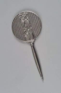 Napier (1922-present). <em>Mirror</em>, ca. 1928. Silver, mirrored glass, 14 1/8 x 6 1/4 x 1/2 in. (35.9 x 15.9 x 1.3 cm). Brooklyn Museum, H. Randolph Lever Fund, 2000.45. Creative Commons-BY (Photo: Brooklyn Museum, 2000.45_back.jpg)