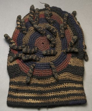 Kirdi. <em>Hat</em>, mid-20th century. Cotton, 11 1/4 x 7 1/2 in.  (28.6 x 19.1 cm). Brooklyn Museum, Gift of Mark S. Rapoport, M.D. and Jane C. Hughes, 2000.69.4. Creative Commons-BY (Photo: Brooklyn Museum, 2000.69.4_side_PS10.jpg)