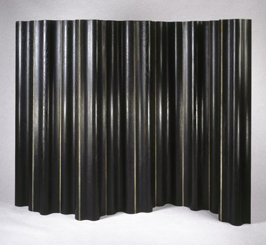 Charles Eames (American, 1907-1978). <em>FSW (Folding Screen Wall)</em>, Designed 1946; Manufactured 1946-1955. Laminated plywood, canvas, 67 9/16 x 101 3/4 x 3 1/16 in.  (171.6 x 258.4 x 7.8 cm). Brooklyn Museum, H. Randolph Lever Fund, 2000.75. Creative Commons-BY (Photo: Brooklyn Museum, 2000.75_SL1.jpg)