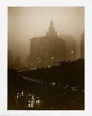 Barbara Mensch (American, born 1950). <em>View from My Window #2</em>, 1999. Selenium-toned gelatin silver photograph, 19 7/8 x 15 7/8 in. (50.5 x 40.3 cm). Brooklyn Museum, Gift of the artist, 2000.88. © artist or artist's estate (Photo: Brooklyn Museum, 2000.88_PS1.jpg)