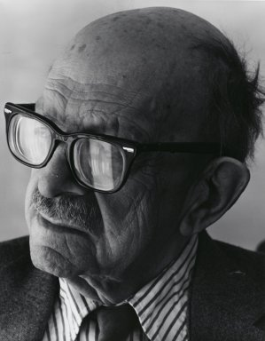 Arthur Mones (American, 1919-1998). <em>Roger Sessions</em>, 1982. Gelatin silver photograph, image:  13 1/2 x 10 1/2 in.  (34.3 x 26.7 cm);. Brooklyn Museum, Gift of Wayne and Stephanie Mones at the request of their father, Arthur Mones, 2000.89.10. © artist or artist's estate (Photo: Brooklyn Museum, 2000.89.10_PS4.jpg)
