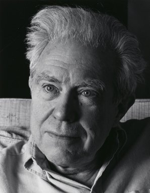 Arthur Mones (American, 1919-1998). <em>Elliot Carter</em>, 1983. Gelatin silver photograph, image:  13 1/2 x 10 1/2 in.  (34.3 x 26.7 cm);. Brooklyn Museum, Gift of Wayne and Stephanie Mones at the request of their father, Arthur Mones, 2000.89.12. © artist or artist's estate (Photo: Brooklyn Museum, 2000.89.12_PS4.jpg)