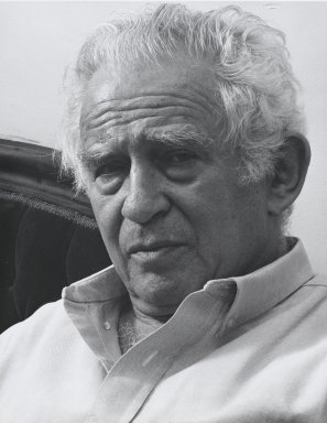 Arthur Mones (American, 1919-1998). <em>Norman Mailer</em>, 1992. Gelatin silver photograph, image:  13 1/2 x 10 1/2 in.  (34.3 x 26.7 cm);. Brooklyn Museum, Gift of Wayne and Stephanie Mones at the request of their father, Arthur Mones, 2000.89.14. © artist or artist's estate (Photo: Brooklyn Museum, 2000.89.14_PS4.jpg)