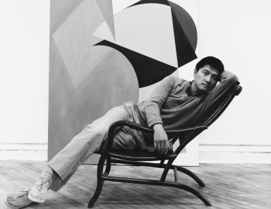 Arthur Mones (American, 1919-1998). <em>David Diao</em>, 1980. Gelatin silver photograph, image:  10 1/2 x 13 1/2 in.  (26.7 x 34.3 cm);. Brooklyn Museum, Gift of Wayne and Stephanie Mones at the request of their father, Arthur Mones, 2000.89.16. © artist or artist's estate (Photo: Brooklyn Museum, 2000.89.16_PS4.jpg)