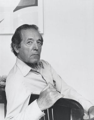 Arthur Mones (American, 1919-1998). <em>Hassos Daphos</em>, 1980. Gelatin silver photograph, image:  13 1/2 x 10 1/2 in.  (34.3 x 26.7 cm);. Brooklyn Museum, Gift of Wayne and Stephanie Mones at the request of their father, Arthur Mones, 2000.89.19. © artist or artist's estate (Photo: Brooklyn Museum, 2000.89.19_PS4.jpg)