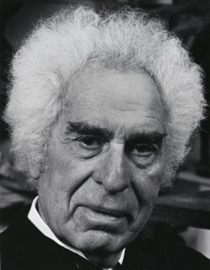 Arthur Mones (American, 1919-1998). <em>Chaim Gross</em>, 1981. Gelatin silver photograph, image:  13 1/2 x 10 1/2 in.  (34.3 x 26.7 cm);. Brooklyn Museum, Gift of Wayne and Stephanie Mones at the request of their father, Arthur Mones, 2000.89.23. © artist or artist's estate (Photo: Brooklyn Museum, 2000.89.23_PS4.jpg)