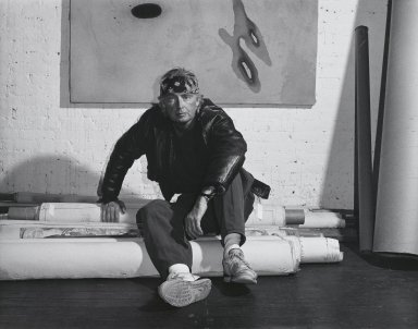 Arthur Mones (American, 1919-1998). <em>Michael Tetherow</em>, 1990. Gelatin silver photograph, image:  10 1/2 x 13 1/2 in.  (26.7 x 34.3 cm);. Brooklyn Museum, Gift of Wayne and Stephanie Mones at the request of their father, Arthur Mones, 2000.89.32. © artist or artist's estate (Photo: Brooklyn Museum, 2000.89.32_PS4.jpg)