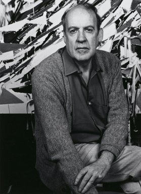 Arthur Mones (American, 1919-1998). <em>Robert Goodnough</em>, 1982. Gelatin silver photograph, image:  13 1/2 x 10 1/2 in.  (34.3 x 26.7 cm);. Brooklyn Museum, Gift of Wayne and Stephanie Mones at the request of their father, Arthur Mones, 2000.89.35. © artist or artist's estate (Photo: Brooklyn Museum, 2000.89.35_PS4.jpg)