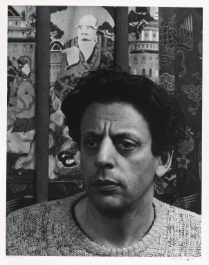 Arthur Mones (American, 1919-1998). <em>Philip Glass</em>, 1983. Gelatin silver photograph, image:  13 1/2 x 10 1/2 in.  (34.3 x 26.7 cm);. Brooklyn Museum, Gift of Wayne and Stephanie Mones at the request of their father, Arthur Mones, 2000.89.39. © artist or artist's estate (Photo: Brooklyn Museum, 2000.89.39_PS6.jpg)