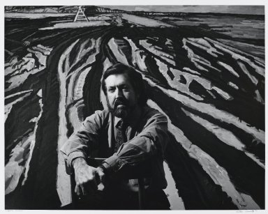 Arthur Mones (American, 1919-1998). <em>Graham Nickson</em>, 1983. Gelatin silver photograph, image:  10 1/2 x 13 1/2 in.  (26.7 x 34.3 cm);. Brooklyn Museum, Gift of Wayne and Stephanie Mones at the request of their father, Arthur Mones, 2000.89.56. © artist or artist's estate (Photo: Brooklyn Museum, 2000.89.56_PS4.jpg)