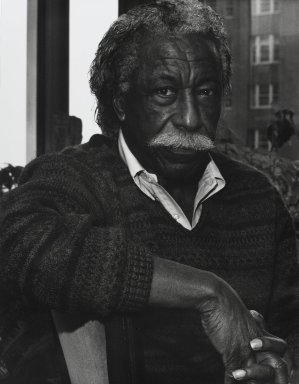 Arthur Mones (American, 1919-1998). <em>Gordon Parks</em>, 1992. Gelatin silver photograph, image:  13 1/2 x 10 1/2 in.  (34.3 x 26.7 cm);. Brooklyn Museum, Gift of Wayne and Stephanie Mones at the request of their father, Arthur Mones, 2000.89.67. © artist or artist's estate (Photo: Brooklyn Museum, 2000.89.67_PS4.jpg)