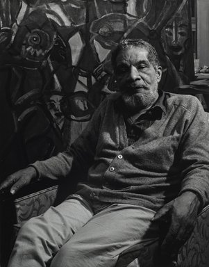 Arthur Mones (American, 1919-1998). <em>Herbert Gentry</em>, 1992. Gelatin silver photograph, image:  13 1/2 x 10 1/2 in.  (34.3 x 26.7 cm);. Brooklyn Museum, Gift of Wayne and Stephanie Mones at the request of their father, Arthur Mones, 2000.89.87. © artist or artist's estate (Photo: Brooklyn Museum, 2000.89.87_PS4.jpg)