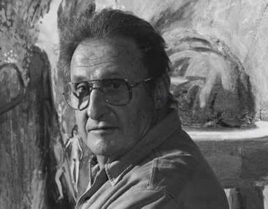 Arthur Mones (American, 1919-1998). <em>Paul Geoules</em>, 1994. Gelatin silver photograph, image:  10 1/2 x 13 1/2 in.  (26.7 x 34.3 cm);. Brooklyn Museum, Gift of Wayne and Stephanie Mones at the request of their father, Arthur Mones, 2000.89.88. © artist or artist's estate (Photo: Brooklyn Museum, 2000.89.88_PS4.jpg)