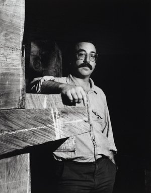 Arthur Mones (American, 1919-1998). <em>John Crawford</em>, 1988. Gelatin silver photograph, image:  13 1/2 x 10 1/2 in.  (34.3 x 26.7 cm);. Brooklyn Museum, Gift of Wayne and Stephanie Mones at the request of their father, Arthur Mones, 2000.89.92. © artist or artist's estate (Photo: Brooklyn Museum, 2000.89.92_PS4.jpg)