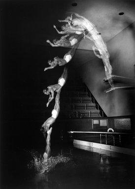 Harold Edgerton (American, 1903 - 1990). <em>Peter Desjardin Diving</em>, 1940; Printed later. Gelatin silver photograph, 20 x 16 in.  (50.8 x 40.6 cm). Brooklyn Museum, Gift of Robert L. Smith, 2000.91.1. Creative Commons-BY (Photo: Brooklyn Museum, 2000.91.1_bw.jpg)