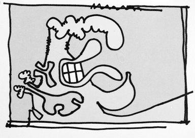 Carroll Dunham (American, born 1949). <em>[Untitled]</em>, 2000. Lithograph, 17 3/16 x 13 6/16 in.  (43.7 x 34.0 cm). Brooklyn Museum, Emily Winthrop Miles Fund, 2001.1.5. © artist or artist's estate (Photo: Brooklyn Museum, 2001.1.5_bw.jpg)
