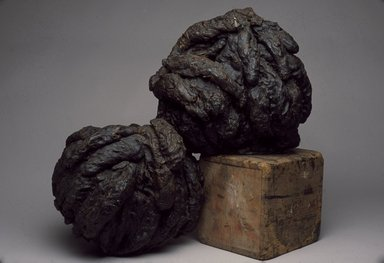 Rona Pondick (American, born 1952). <em>Pair</em>. Wax and wood, 37 x 29 x 27 in. (94 x 73.7 x 68.6 cm). Brooklyn Museum, Gift of Thea Westreich and Ethan Wagner, 2001.129a-c. © artist or artist's estate (Photo: Brooklyn Museum, 2001.129a-c_slide_SL3.jpg)