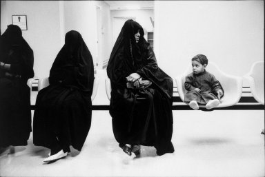 Wendy Levine (American, born 1957). <em>Dhahran Women's Clinic</em>, 1987. Gelatin silver photograph, sheet: 16 × 20 in. (40.6 × 50.8 cm). Brooklyn Museum, Purchased with funds given by the Horace W. Goldsmith Foundation, 2001.21. © artist or artist's estate (Photo: Brooklyn Museum, 2001.21_bw.jpg)