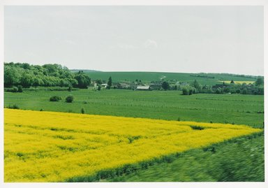 Jonathan Blaustein (American, born 1974). <em>Through the Window (Paris to Avignon) #4</em>, 2000. Chromogenic photograph, 16 x 20 in.  (40.6 x 50.8 cm). Brooklyn Museum, Gift of Georgia O'Keeffe and Gift of Wallace B. Putnam from the Estate of Consuelo Kanaga, by exchange, 2001.59. © artist or artist's estate (Photo: Brooklyn Museum, 2001.59_PS9.jpg)
