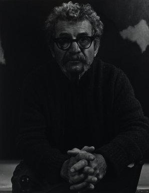 Arthur Mones (American, 1919-1998). <em>Herman Cherry</em>. Gelatin silver photograph, 13 3/8 x 10 7/16 in. Brooklyn Museum, Gift of Wayne and Stephanie Mones at the request of their father, Arthur Mones, 2001.76.13. © artist or artist's estate (Photo: Brooklyn Museum, 2001.76.13_PS4.jpg)