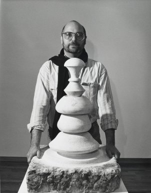 Arthur Mones (American, 1919-1998). <em>Joel Fisher</em>. Gelatin silver photograph, 10 1/2 x 13 1/2 in. Brooklyn Museum, Gift of Wayne and Stephanie Mones at the request of their father, Arthur Mones, 2001.76.14. © artist or artist's estate (Photo: Brooklyn Museum, 2001.76.14_PS4.jpg)
