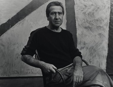 Arthur Mones (American, 1919-1998). <em>Michael Goldberg</em>. Gelatin silver photograph, 10 1/2 x 13 1/2 in. Brooklyn Museum, Gift of Wayne and Stephanie Mones at the request of their father, Arthur Mones, 2001.76.15. © artist or artist's estate (Photo: Brooklyn Museum, 2001.76.15_PS4.jpg)