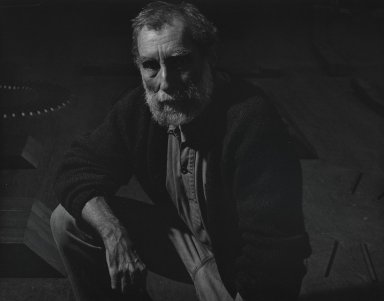Arthur Mones (American, 1919-1998). <em>Richard Nonas</em>. Gelatin silver photograph, 10 1/2 x 13 1/2 in. Brooklyn Museum, Gift of Wayne and Stephanie Mones at the request of their father, Arthur Mones, 2001.76.7. © artist or artist's estate (Photo: Brooklyn Museum, 2001.76.7_PS4.jpg)