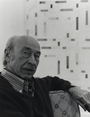 Arthur Mones (American, 1919-1998). <em>Michael Loew</em>. Gelatin silver photograph, 13 7/16 x 10 1/2 in. Brooklyn Museum, Gift of Wayne and Stephanie Mones at the request of their father, Arthur Mones, 2001.76.9. © artist or artist's estate (Photo: Brooklyn Museum, 2001.76.9_PS4.jpg)