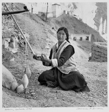 Larry Snider. <em>Weaver Ladakh</em>, 1998. Gelatin silver photograph, 9 13/16 x 9 15/16 in.  (24.9 x 25.2 cm). Brooklyn Museum, Gift of the artist, 2001.78.2. © artist or artist's estate (Photo: Brooklyn Museum, 2001.78.2_bw.jpg)