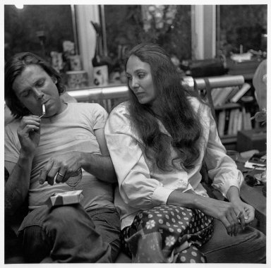 Larry Fink (American, born 1941). <em>[Untitled] (Gary and Nancy Kuehn)</em>, ca. 1975. Gelatin silver photograph, image:  14 1/2 x 14 3/4 in.  (36.8 x 37.5 cm);. Brooklyn Museum, Gift of Joan Snyder, 2001.79.1. © artist or artist's estate (Photo: Brooklyn Museum, 2001.79.1_bw.jpg)
