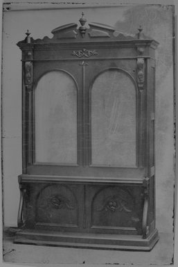 American. <em>Higgins Parlor Cabinet/Bed, Bed Closed</em>, ca. 1870. Tintype, 4 1/2 x 2 13/16 in.  (11.4 x 7.1 cm). Brooklyn Museum, Alfred T. and Caroline S. Zoebisch Fund, 2001.9.2 (Photo: Brooklyn Museum, 2001.9.2_bw.jpg)