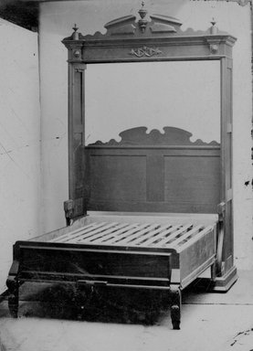 American. <em>Higgins Parlor Cabinet/Bed, Bed Open</em>, ca. 1870. Tintype, 4 3/8 x 3 1/8 in.  (11.1 x 7.9 cm). Brooklyn Museum, Alfred T. and Caroline S. Zoebisch Fund, 2001.9.3 (Photo: Brooklyn Museum, 2001.9.3_bw.jpg)