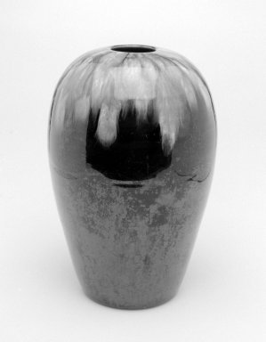 Christopher Dresser (English, 1834-1904). <em>Vase</em>, 1879-1882. Glazed earthenware, height: 9 in. (22.9 cm). Brooklyn Museum, Gift of Rosemarie Haag Bletter and Martin Filler in memory of Catherine Hoover Voorsanger, 2002.106.3. Creative Commons-BY (Photo: Brooklyn Museum, 2002.106.3_bw.jpg)