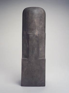 <em>Linga</em>, 10th-11th century. Sandstone, 18 x 5 1/2 x 5 1/2 in. (45.7 x 14 x 14 cm). Brooklyn Museum, Gift of Dr. Alvin E. Friedman-Kien, 2002.119.2. Creative Commons-BY (Photo: Brooklyn Museum, 2002.119.2_transp5339.jpg)