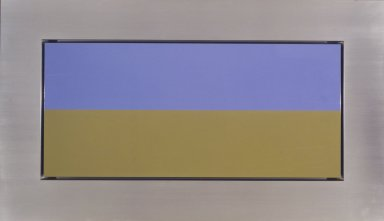 Christian Eckart (Canadian, born 1959). <em>New O.D. Painting #1703</em>, 1992. Acrylic urethane on aluminum, 78 x 45 x 12 in. (198.1 x 114.3 x 30.5 cm). Brooklyn Museum, Gift of Richard Rubin Seed Fund L.P., 2002.122. © artist or artist's estate (Photo: Brooklyn Museum, 2002.122_transp6134.jpg)