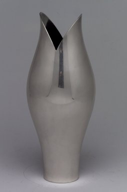 Gorham Manufacturing Company (1865-1961). <em>Vase</em>, ca. 1955. Silverplate, 7 3/4 x 3 3/16 x 3 3/16 in. (19.7 x 8.1 x 8.1 cm). Brooklyn Museum, Gift of Richard L. Huggins, 2002.14.2. Creative Commons-BY (Photo: Brooklyn Museum, 2002.14.2.jpg)