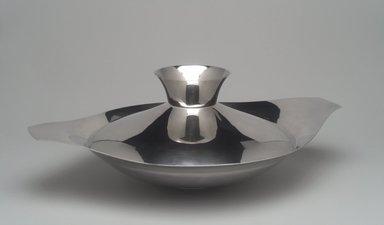 Gorham Manufacturing Company (1865-1961). <em>Covered Dish</em>, ca. 1955. Silverplate, 5 3/8 x 15 9/16 x 11 7/16 in. (13.7 x 39.5 x 29.1 cm). Brooklyn Museum, Gift of Richard L. Huggins, 2002.14.3a-b. Creative Commons-BY (Photo: Brooklyn Museum, 2002.14.3a-b.jpg)