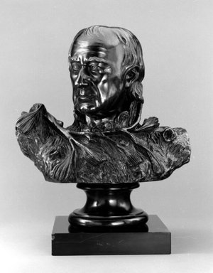 William Rush (American, 1756-1833). <em>Self Portrait (The Pine Knot Portrait)</em>, 1822; cast 1971. Bronze, stone base