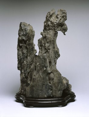 <em>Scholar's Rock</em>, 18th century. Limestone, 13 1/2 x 8 3/4 x 6 3/4 in. (34.3 x 22.2 x 17.1 cm). Brooklyn Museum, Gift of Alastair Bradley Martin, 2002.37. Creative Commons-BY (Photo: Brooklyn Museum, 2002.37_view1_SL1.jpg)