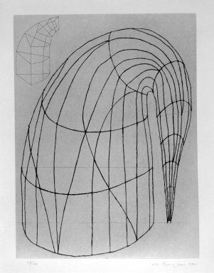 Martin Puryear (American, born 1941). <em>Untitled</em>, 2001. Hardground and softground etching with drypoint and chine colle, Sheet: 35 x 28 in. (88.9 x 71.1 cm). Brooklyn Museum, Robert A. Levinson Fund, 2002.45. © artist or artist's estate (Photo: Brooklyn Museum, 2002.45_bw.jpg)