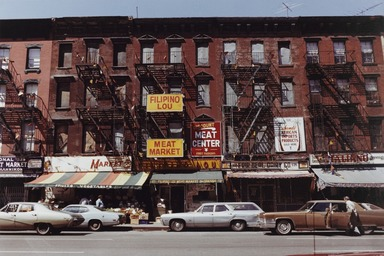Gerard Vezzuso (American, born 1943). <em>9th Avenue, New York City</em>, 1977. Chromogenic photograph, sheet: 16 x 20 in. (40.6 x 50.8 cm). Brooklyn Museum, Gift of Gerard Vezzuso, 2002.60.3. © artist or artist's estate (Photo: , 2002.60.3_PS9.jpg)