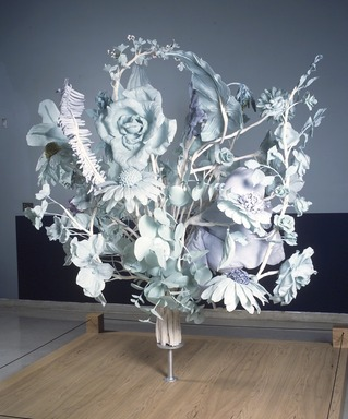 JoAnne Carson (American, born 1953). <em>Bouquet</em>, 2001. Thermaplastic, aqua resin, and watercolor, 105 x 84 in. (266.7 x 213.4 cm). Brooklyn Museum, Gift of the American Academy of Arts and Letters, New York; Sculpture Purchase Funds, 2002, Anonymous Donor, 2002.61. © artist or artist's estate (Photo: Brooklyn Museum, 2002.61_transp5887.jpg)