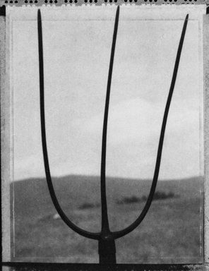 Alice Garik (American, born 1945). <em>[Untitled] (Pitchfork)</em>, 2001. Palladium print, 7 1/8 x 5 5/8 in.  (18.1 x 14.3 cm). Brooklyn Museum, Gift of the artist, 2002.79.1. © artist or artist's estate (Photo: Brooklyn Museum, 2002.79.1_bw.jpg)