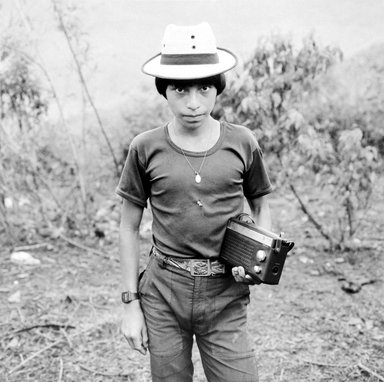 Jonathan Moller (American, born 1963). <em>Domingo, Caba, CPR of the Sierra, Quiche, Guatemala</em>, 1993. Gelatin silver photograph, Sheet: 19 13/16 x 16 in. (50.3 x 40.6 cm). Brooklyn Museum, Gift of the artist, 2002.84.1. © artist or artist's estate (Photo: Brooklyn Museum, 2002.84.1_bw.jpg)