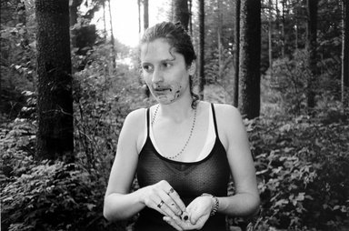 A.L. Steiner (American, born 1967). <em>Untitled (Alex Eating Berries)</em>, 1997. Chromogenic photograph, Sheet: 16 1/4 x 20 in. (41.3 x 50.8 cm). Brooklyn Museum, Gift of the artist, 2002.88. © artist or artist's estate (Photo: Brooklyn Museum, 2002.88_bw.jpg)