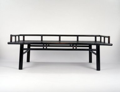 <em>Daybed</em>, 18th century. Soft wood with caning and lacquer, 25 x 75 3/4 x 37 1/2 in. (63.5 x 192.4 x 95.3 cm). Brooklyn Museum, Gift of Dr. Alvin E. Friedman-Kien, 2002.94. Creative Commons-BY (Photo: Brooklyn Museum, 2002.94_transp5781.jpg)