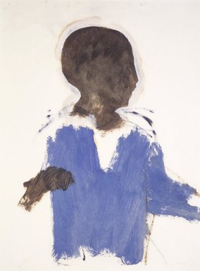"Lennart Anderson (American, 1928-2015). <em>Study of a Boy for ""Accident,""</em> ca. 1955. Oil on paper, 11 3/4 x 8 15/16 in. (29.8 x 22.7 cm). Brooklyn Museum, Gift of Sarah-Ann and Werner H. Kramarsky, 2002.99. © artist or artist's estate (Photo: Brooklyn Museum, 2002.99_transp5877.jpg)"